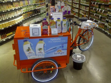 Icicle Tricycle Advertising & Product Sampling Bike
