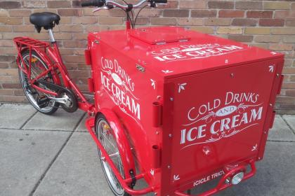 Icicle Tricycle Ice Cream Sandwich Bike - Leona's Ice Cream Sandwiches