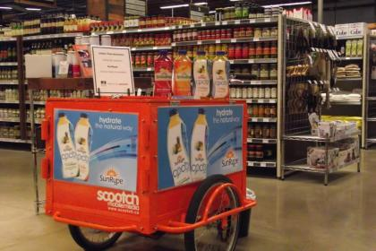 Product Sampling & Marketing Bike for SunRype Juice by Icicle Tricycles