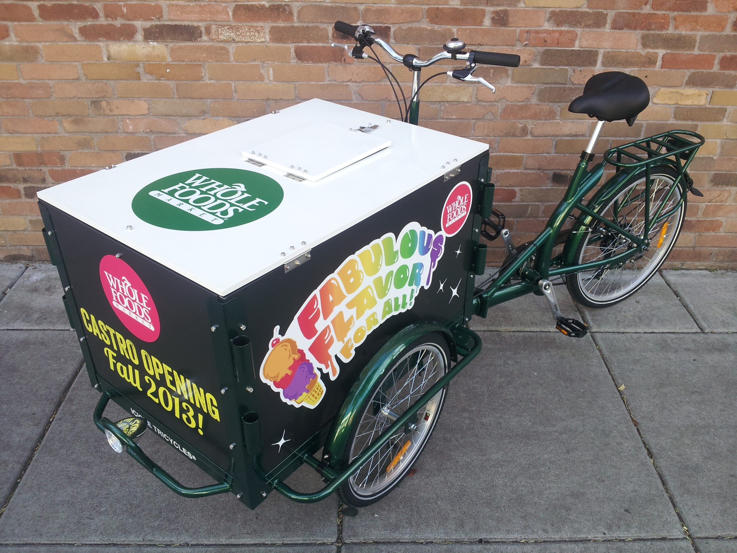 Icicle Tricycles Ice Cream Bike - Whole Foods Ice Cream Bike
