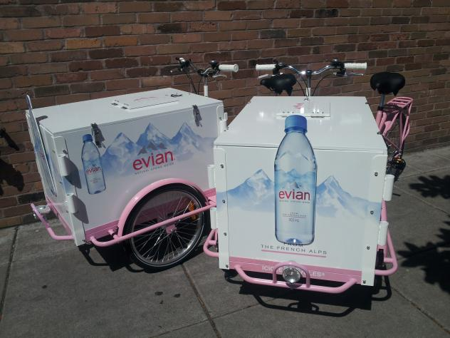 icicle tricycles mobile beverage carts