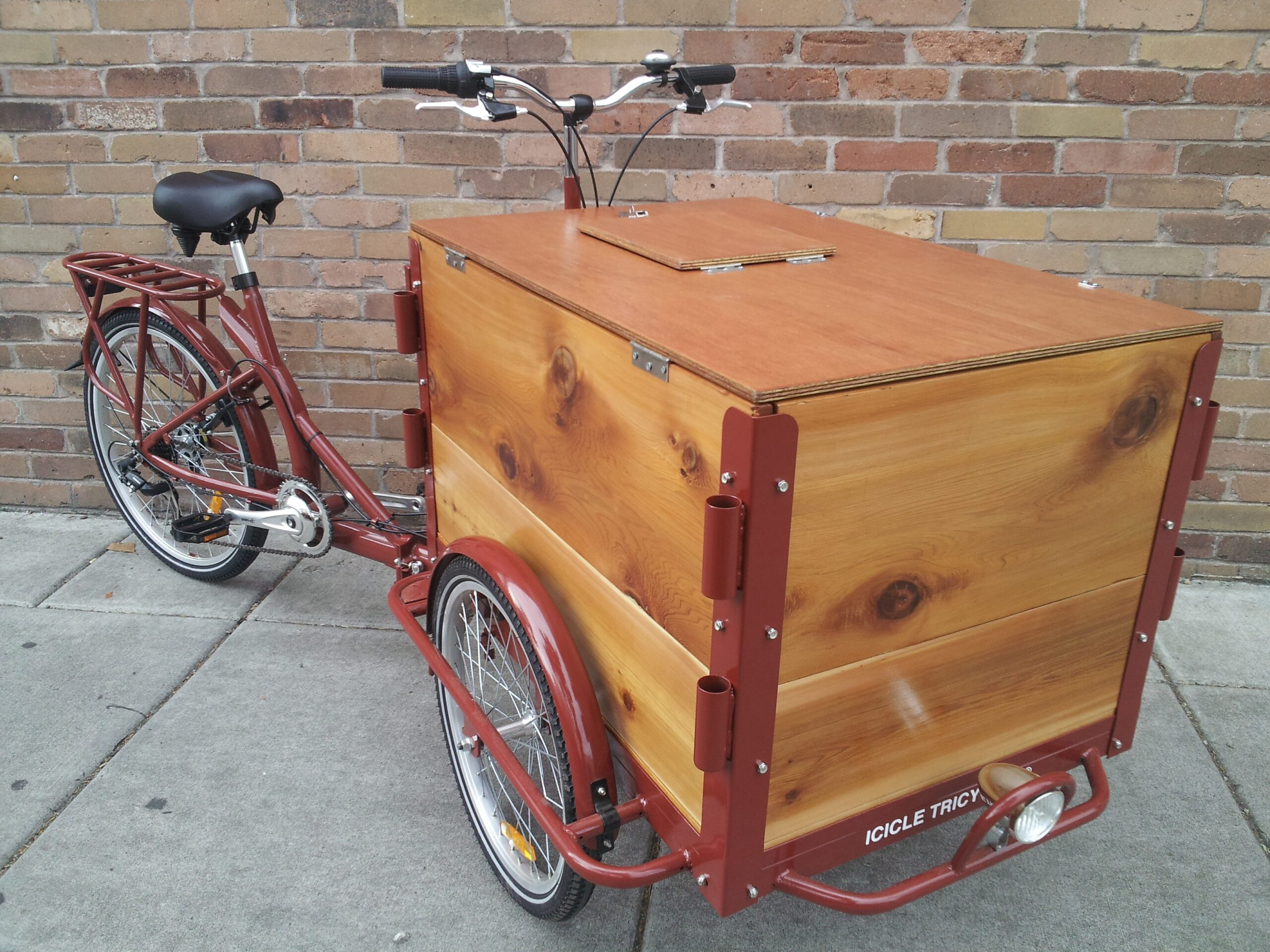 Icicle Tricycls Wooden Ice Cream Bike
