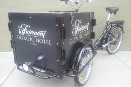 Fairmont Olympic Hotel Icicle Tricycle Catering Bike