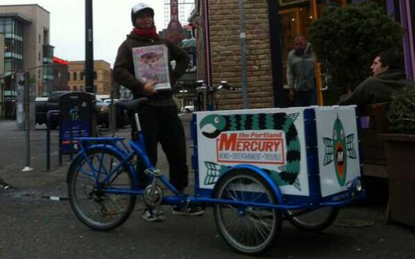 Icicle Tricycles Newspaper Delivery Bike - Portland Mercury