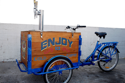 Icicle Tricycles Cold Press Coffee cedar box cargo Bike