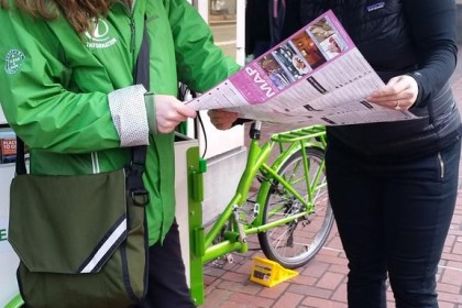 Library Book Bike for Mobile Information