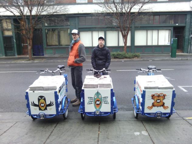 Icicle Tricycles Newspaper Delivery Bicycles