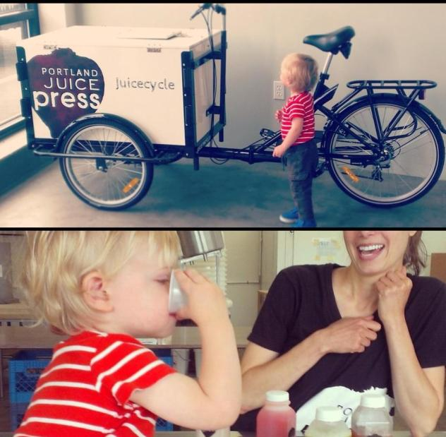 Icicle Tricycles Cold Press Juice Bike - Portland Juice Press