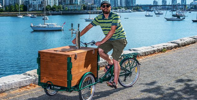 Hand Built Wood Panel Vending Tricycles