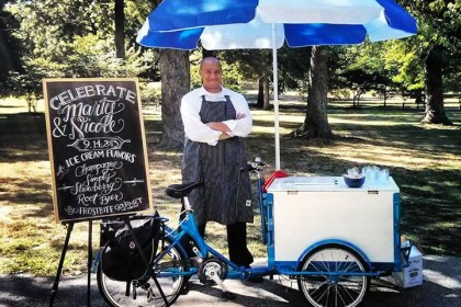 Icicle Tricycles Standard Mobile Vending Cart - Frostbite Ice Cream Bike