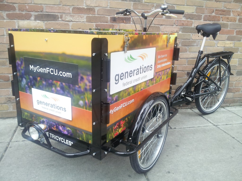 Icicle Tricycles Marketing Bike - Bank Bike