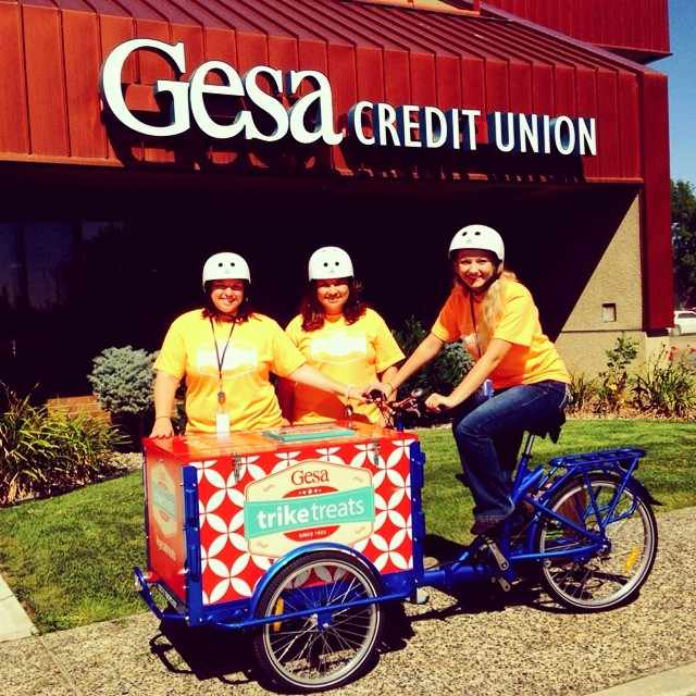 Icicle Tricycles Marketing Bike - Credit Union Bike