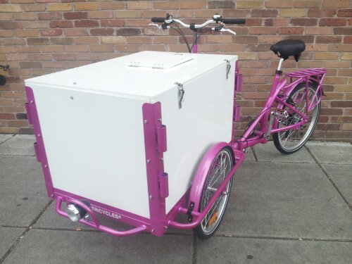 Icicle Tricycles Front load Ice Cream Bike - Used Ice Cream Bikes for sale - standard ice cream bicycle model