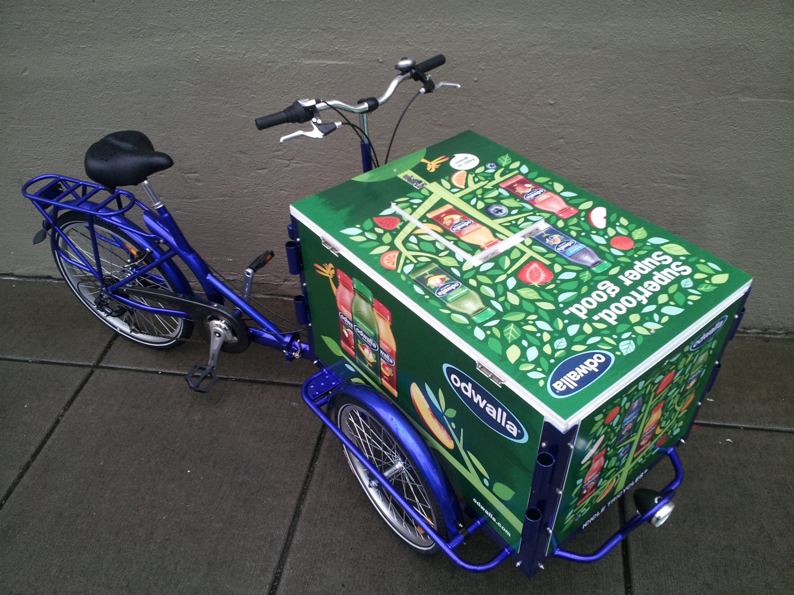 past customers Icicle Tricycles Ice Cream Marketing Bike odwalla juice trike