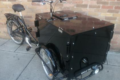 Custom Cargo Bike Icicle TricyclesIcicle Tricycles Marketing and Advertising Bike