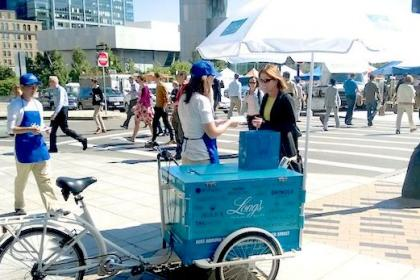 Icicle Tricycles Product Sampling Bike - Marketing Bike