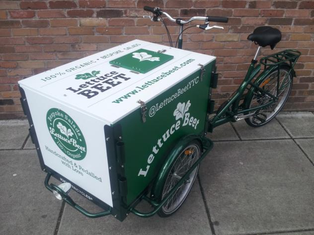 Icicle Tricycles Food Bike- Vending, Marketing, Business Campuses - Salad Bike