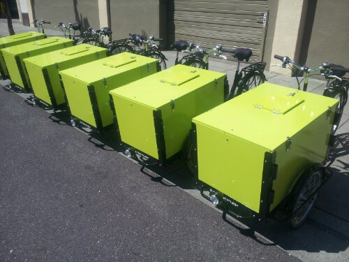 Icicle Tricycles Cargo Bike Fleet for business campuses