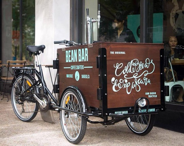 Coffee Business Brand Visibility Bike