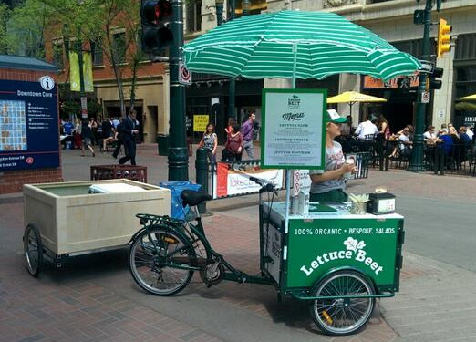 Icicle Tricycles Food Bike - LettuceBeetYYC Salad food bike business vending tricycle