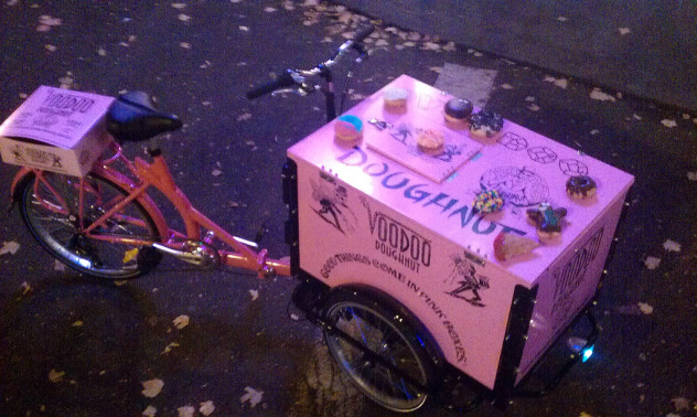 Icicle Tricycles Bread and Bakery Delivery Bikes - Voodoo Doughnuts Bike