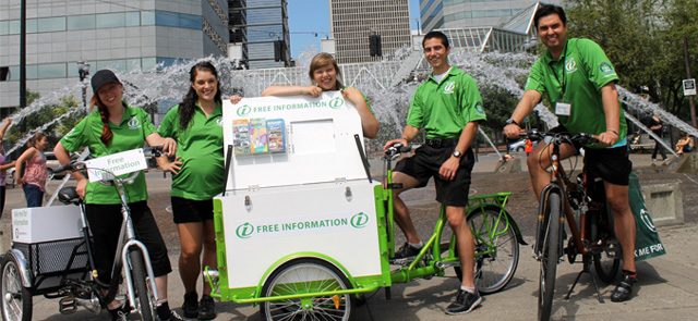 Icicle Tricycles Mobile Kiosk - Informational Brochure Bike - Portland Clean and Safe Trike