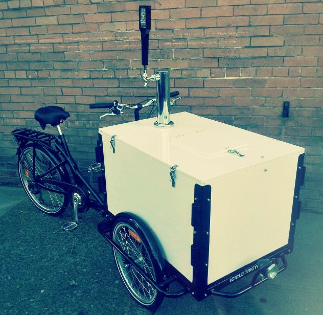 Icicle Tricycles Mobile Beverage Dispenser Bike