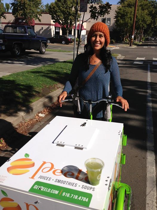 Peel'd Pure Vibrance - Fresh Produce Delivery Bike
