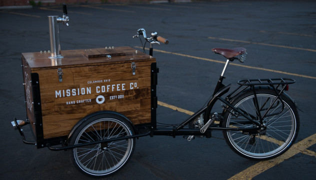 Coffee Shop Brand Engagement Bike