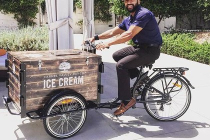 Carmel Valley Ranch branded Ice Cream bike