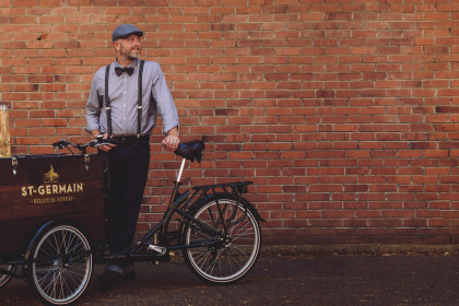 St. Germain Mobile Beverage Cart Bike by Icicle Tricycles