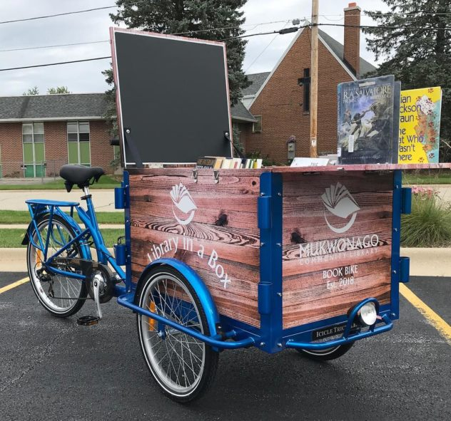 icicle tricycles trike, library trike reading book bike