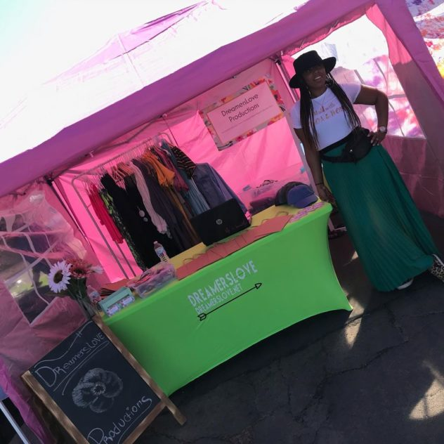Dreamers Love Productions vending booth at the urban market in Phoenix Arizona